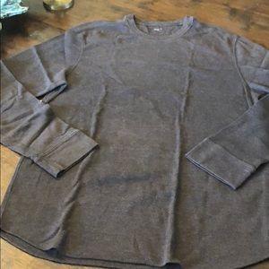 Gap long sleeve thermal men's size XL chocolate